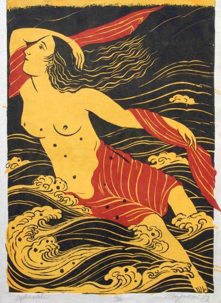 "Aphrodite 32"" x 23"" Silkscreen, 1978 $12,000."